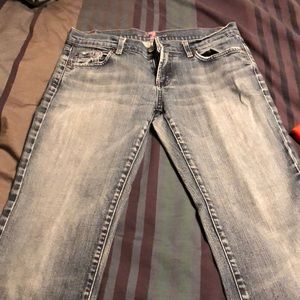 7 for all mankind bootcut jeans, size 30.